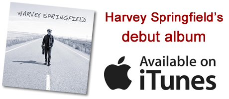 Harvey Springfield's debut album now available for download on iTunes